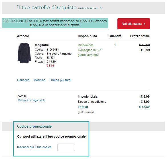 5€ Codice sconto Bonprix   Giugno 2020   Gazzetta.it